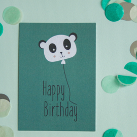 Panda happy Birthday || A6 Kaart