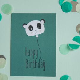 Panda happy Birthday || A6 Kaart