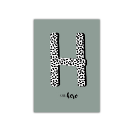 H is for Hero || A4 Poster
