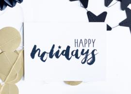 Happy holidays || A6 Kaart
