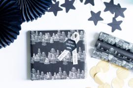 Kadopapier || Zwart