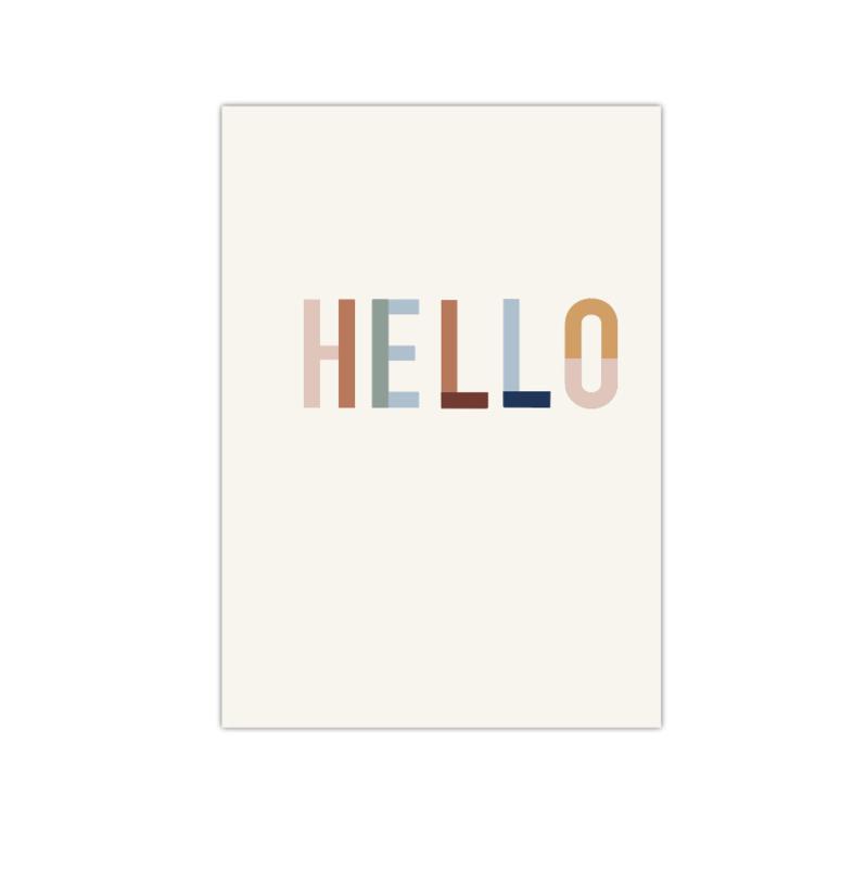 Hello    A5 poster