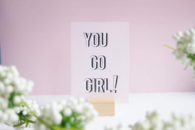 You Go Girl!    A6 Kaart