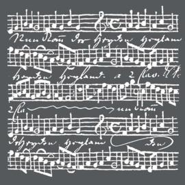 Stamperia Muziek Stencil (18x18cm)