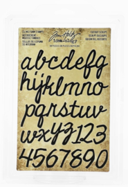 Tim Holtz  Cling Foam stamps 'Cutout Script'