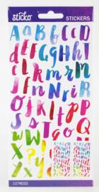 Sticko Alphabet Stickers Watercolor (112 stuks)