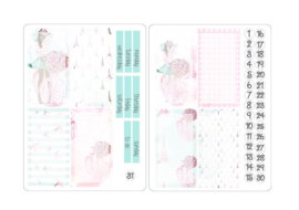 SPRING Stickers voor Travelers Notebook insert 'Boxes'