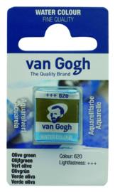van Gogh watercolor napje 'Olijfgroen'