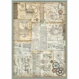 Stamperia - Voyages Fantastiques Gears A3