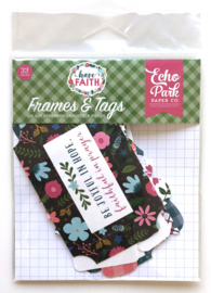 Echo Park 'Have Faith' Frames & tags paper craft elements