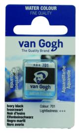 van Gogh watercolor napje 'Ivoorzwart'