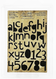 Tim Holtz Idea-ology Cling Foam Stamps 'Cutout Lower'
