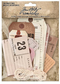 Idea-iology - Tim Holtz - Salvaged Tags 25 Tags & 2,7m string