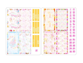 SUMMER Stickers voor Travelers Notebook insert 'Boxes'