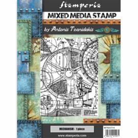 Stamperia - Mixed Media Stamp - Sir Vagabond Mechanism