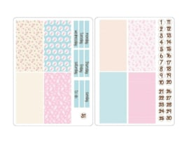 SOFT PATTERN Stickers voor Travelers Notebook insert 'Boxes'
