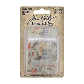 Tim Holtz - Linen tape 'Floral'