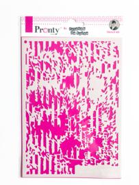 Pronty Stencil Grunge Lines A5