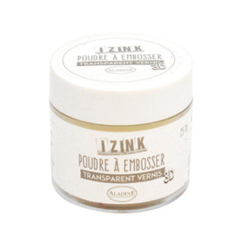 iZink embossing poeder 'transparant' 25ml