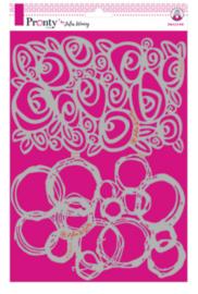 Pronty Stencil Roses & Circles (A4)