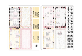 LITTLE GIRL stickers voor Travelers Notebook insert 'Boxes'