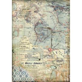 Stamperia - Maps A4