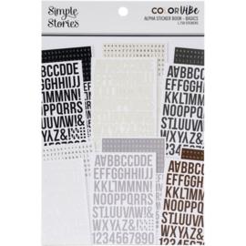 Simple Stories Alpha stickers (1758 stuks) 'Basics'