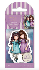 Santoro Gorjuss Rubber Stamp No° 72 'Friends Walk Together'