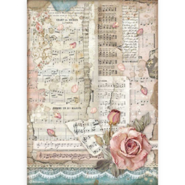 Stamperia - Passion Roses And Music A4