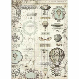 Stamperia - Voyages Fantastiques Balloon A3