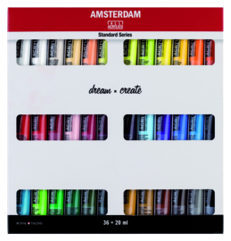 Set Amsterdam acrylverf  36x 20ml