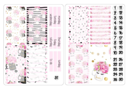 SMILE Stickers voor Travelers Notebook Insert 'Boxes'