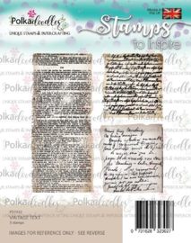 Polkadoodles- Vintage text - clear stamps
