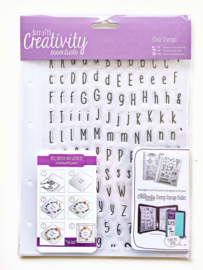Docrafts Clear Stamps 'Alphas Folk' A5