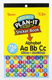 Alphabet Sticker boek (756 stuks)