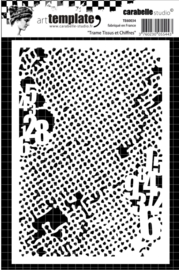 Carabelle studio stencil 10,5 x14cm Frame, fabric & Figures