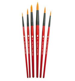 Synthetische penselen (set van 6)