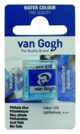 van Gogh watercolor napje 'Phtaloblauw'