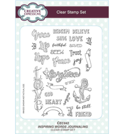 Clear stamps 'Inspiring Words Journaling'