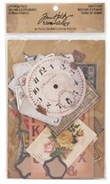 Idea-ology - Tim Holtz - Ephemera Pack- Thrift Shop 54 stuks