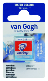 van Gogh watercolor napje 'Vermiljoen'