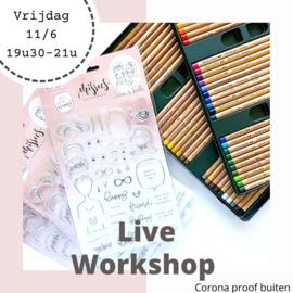 """Missees & Pastels"" workshop in open lucht"