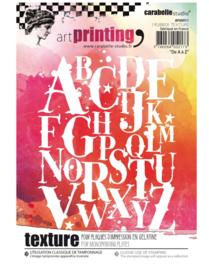 Carabelle studio - Art printing plate- 'De A à Z' A6