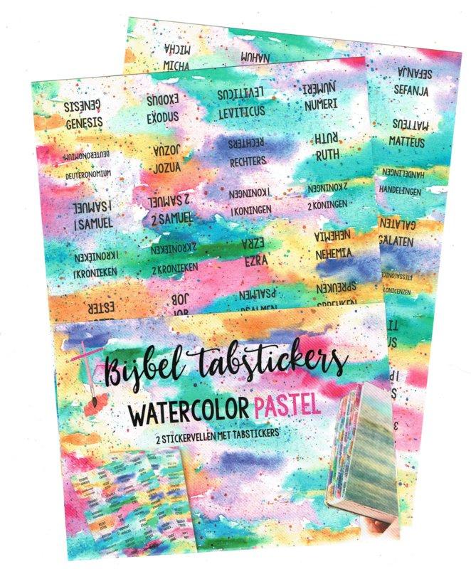 Bijbel tabstickers 'Watercolor pastel'