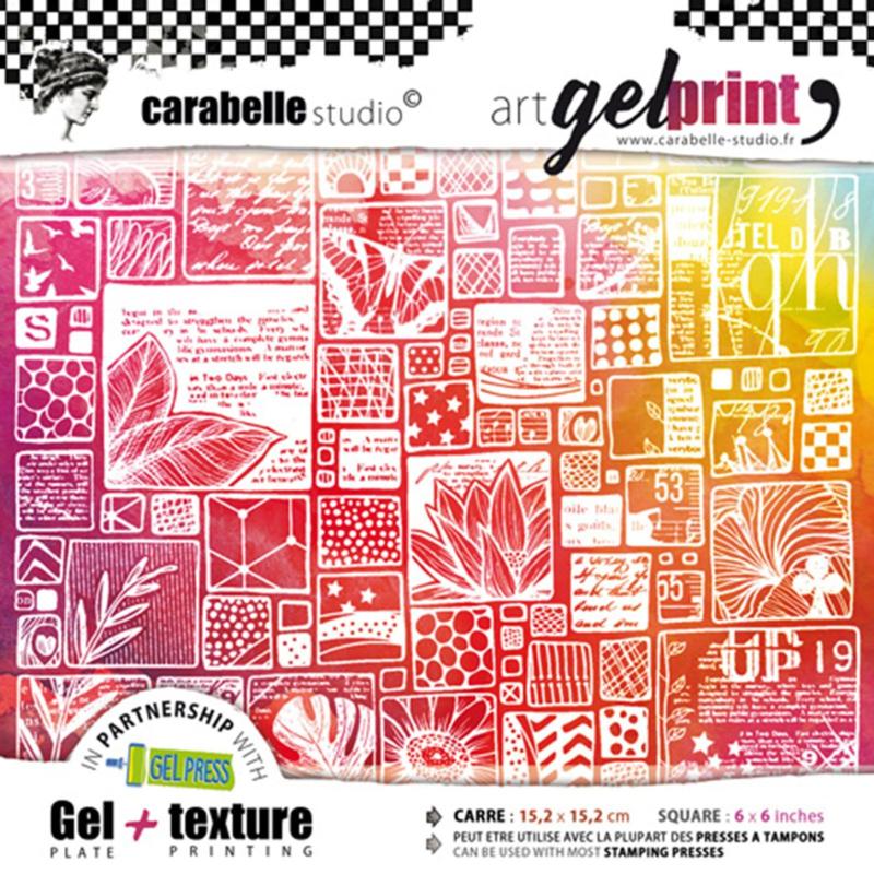 Carabelle Studio Art Gel Printing kit 'La vie en images'