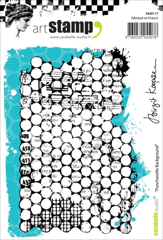 Carabelle Studio Cling stamp A6 'Punchanella background'
