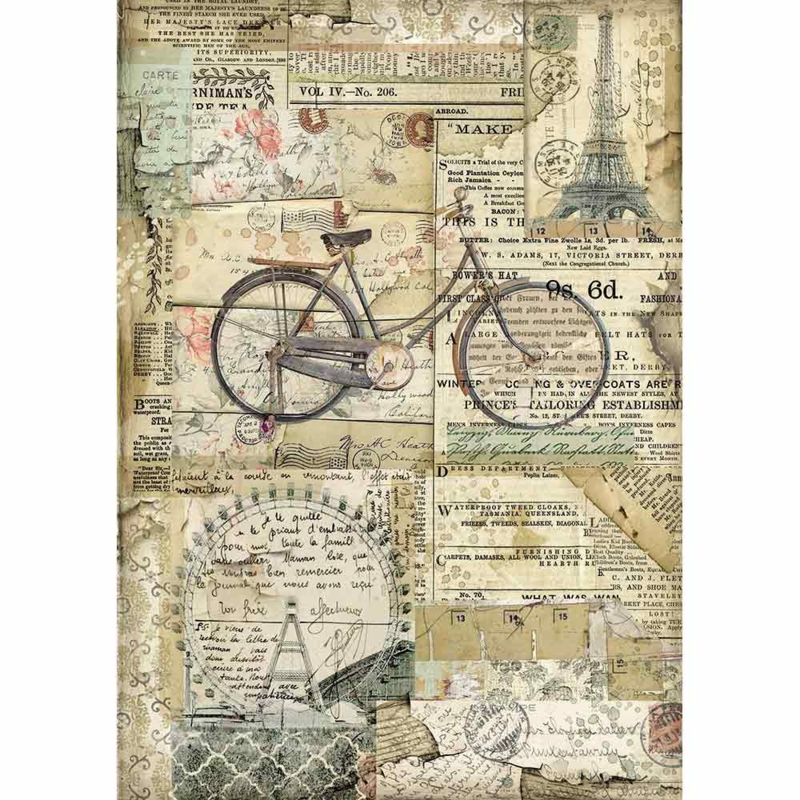 Stamperia - Bicycle A4