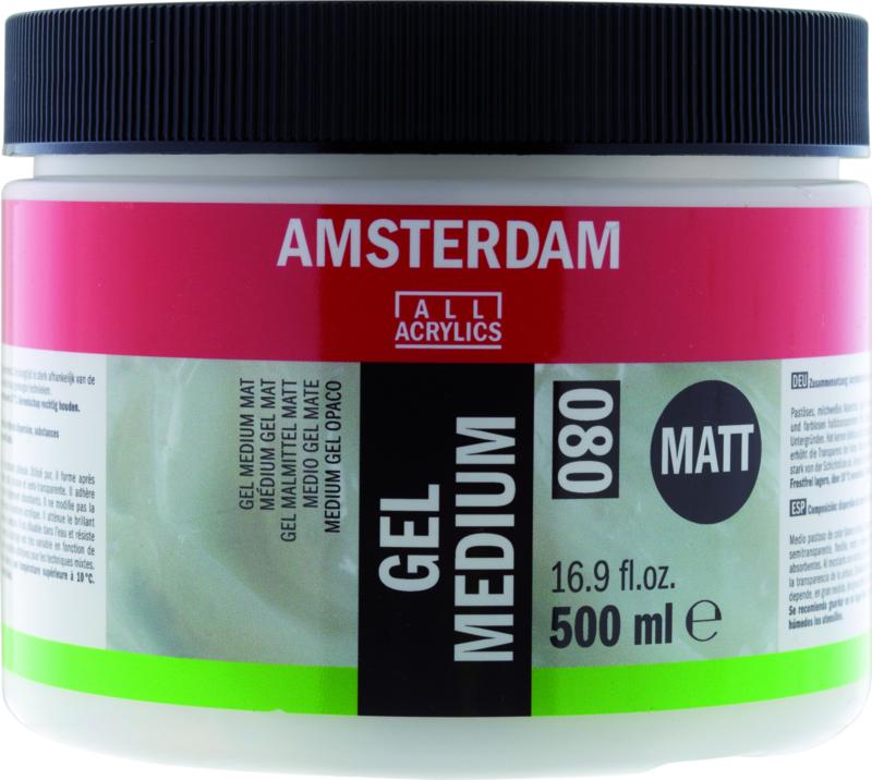 Amsterdam Gel Medium Mat 080 500ml