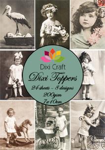 Dixi toppers - Vintage Photos 7x10cm