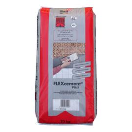 FLEXcement PLUS COMPAKTUNA 25kg, universeel en flexibel, voor kleven van membranen op muren